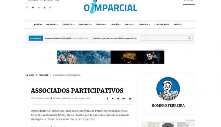 Jornal Imparcial destaca ações da Unipontal