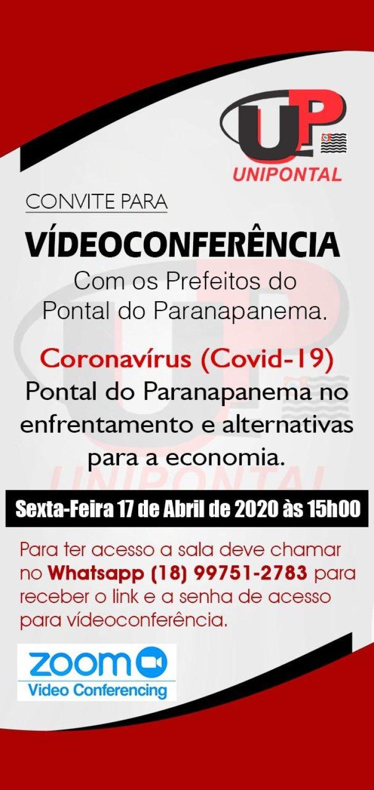 Unipontal promoverá primeira vídeo conferência de prefeitos e convidados