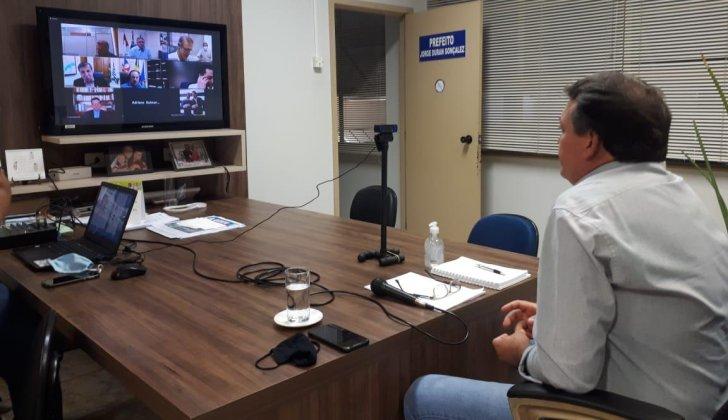 Presidente da Unipontal participa de vídeo conferência com secretários estaduais